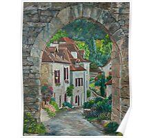 Arches of Saint-Cirq_Lapopie Poster