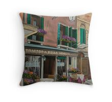 Beautiful Restaurant In Venice Throw Pillow
