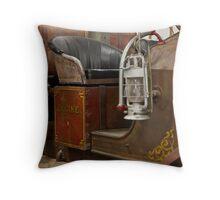 Antique Firetruck Throw Pillow