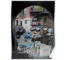 Harbor's Edge In Riomaggiore Poster