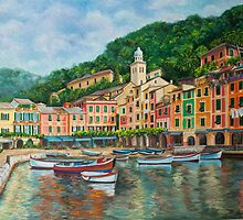 Reflections of Portofino by Charlotte  Blanchard