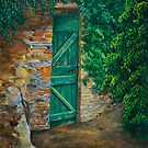 The Garden Gate In Cinque Terre by Charlotte  Blanchard