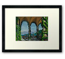Under The Arches At Villa Balvianella Framed Print