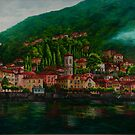Village View On Lake Como by Charlotte  Blanchard