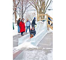 Ice Sledding Photographic Print