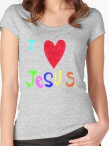 I Love Jesus,..Jesus Loves Me..tee Women's Fitted Scoop T-Shirt