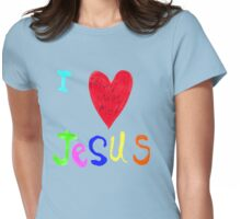 I Love Jesus,..Jesus Loves Me..tee Womens Fitted T-Shirt