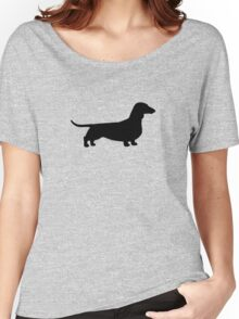 Dachshund Silhouette Women's Relaxed Fit T-Shirt