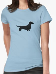 Dachshund Silhouette Womens Fitted T-Shirt