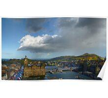 Edinburgh - Sun And Rain Poster