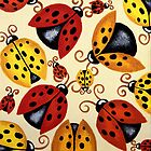 &#x27;Lady Bugs&#x27;   by Lisa Frances Judd ~ Original Australian Art