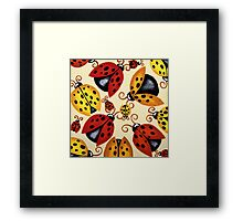 'Lady Bugs'   Framed Print