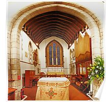 Chancel, St Peter and St Paul, Farningham Poster