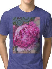 Percolated Peony Bloom Tri-blend T-Shirt