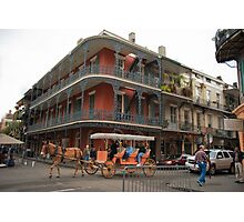 A typical day in New Orleans French Quarter Photographic Print