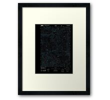 USGS Topo Map Oregon Red Butte 20110722 TM Inverted Framed Print