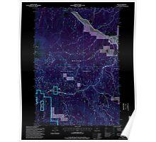 USGS Topo Map Oregon Bates 278952 1996 24000 Inverted Poster