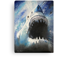 JAWS-OIL PAINTING Canvas Print