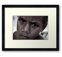 Boy, Moso Framed Print