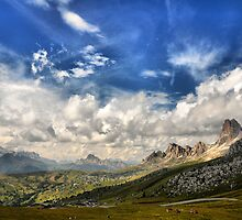 Landscape from Giau Pass (Dolomites Over Cortina d'Ampezzo) by Francesco Malpensi