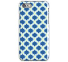 Blue and Yellow Ogee Pattern iPhone Case/Skin