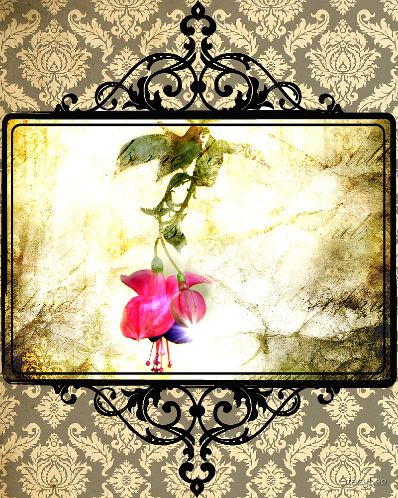 Damask Flower Print (Psalm 23) by StacyLee