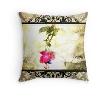 Damask Flower Print (Psalm 23) Throw Pillow