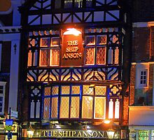 The Ship Anson at Night by Dave Godden
