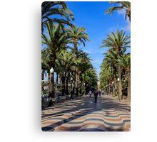 Alicante, Explanada de España Canvas Print