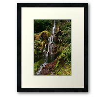 Hestercombe Waterfalls HDR Framed Print