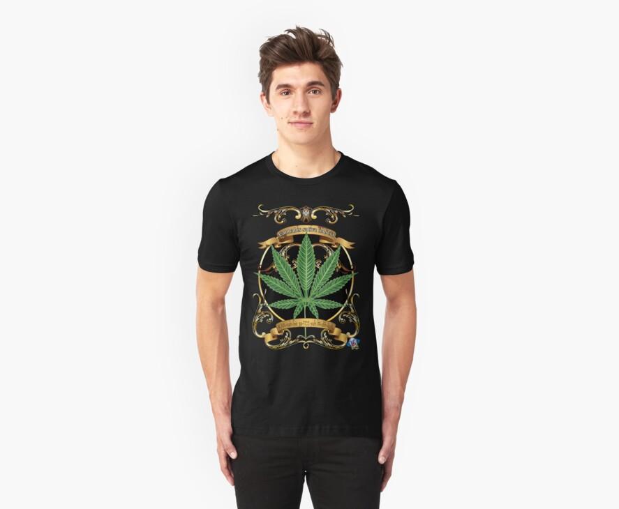 Marijuana cannabis indicia T-Shirt by bear77