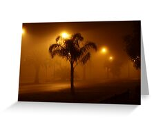 Under the street lights Greeting Card