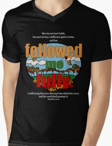 Followed Me Fully Mens V-Neck T-Shirt