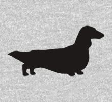 Long Haired Dachshund Silhouette by Jenn Inashvili