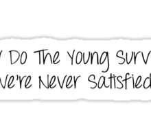 How do the young survive? Sticker