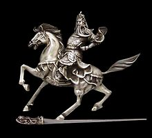 HORSE AND RIDER SILVER STATUE ..APPAREL by ✿✿ Bonita ✿✿ ђєℓℓσ