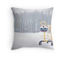 Lonely Caterpillar Throw Pillow