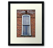 The Window on the Old Brick Building Framed Print