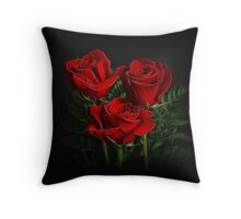 Red Roses II Throw Pillow