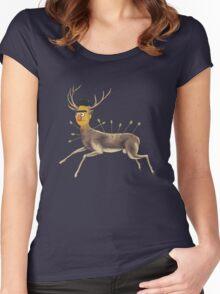 Bert Kahlo  - Deer Women's Fitted Scoop T-Shirt