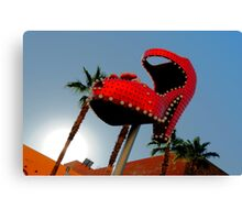 Red Hot Shoe Canvas Print