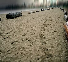 Footsteps In The Sand by infiniteartfoto