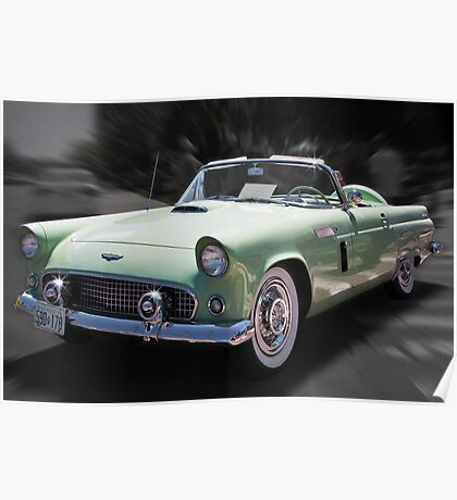 1956 Thunderbird convertible Poster