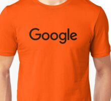 New Black Google Logo (September 2015) - Clear, High-Quality, Large Unisex T-Shirt