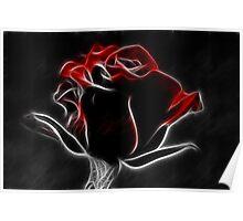 Fractalius Red Rose Poster