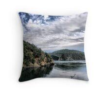 Bridge from Inlet Throw Pillow