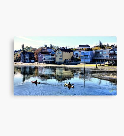 Coupeville Kayakers One Canvas Print