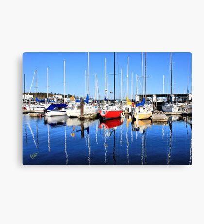 Marina Blue Reflection One Canvas Print
