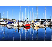 Marina Blue Reflection One Photographic Print