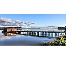 Coupeville Wharf with Boats Photographic Print